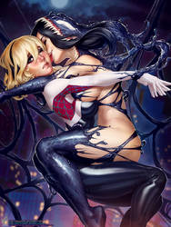 Spider-Gwen and She-Venom (Special) by TheMaestroNoob