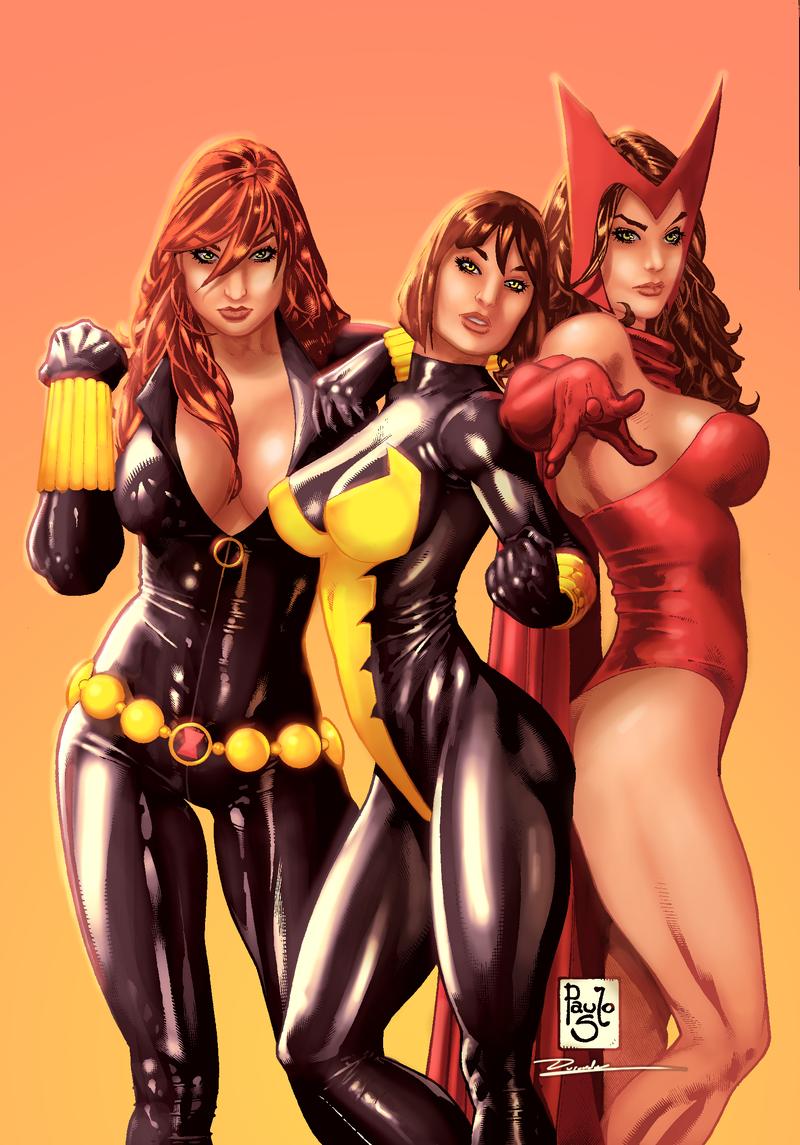 3 Marvel Chicks by Durandus