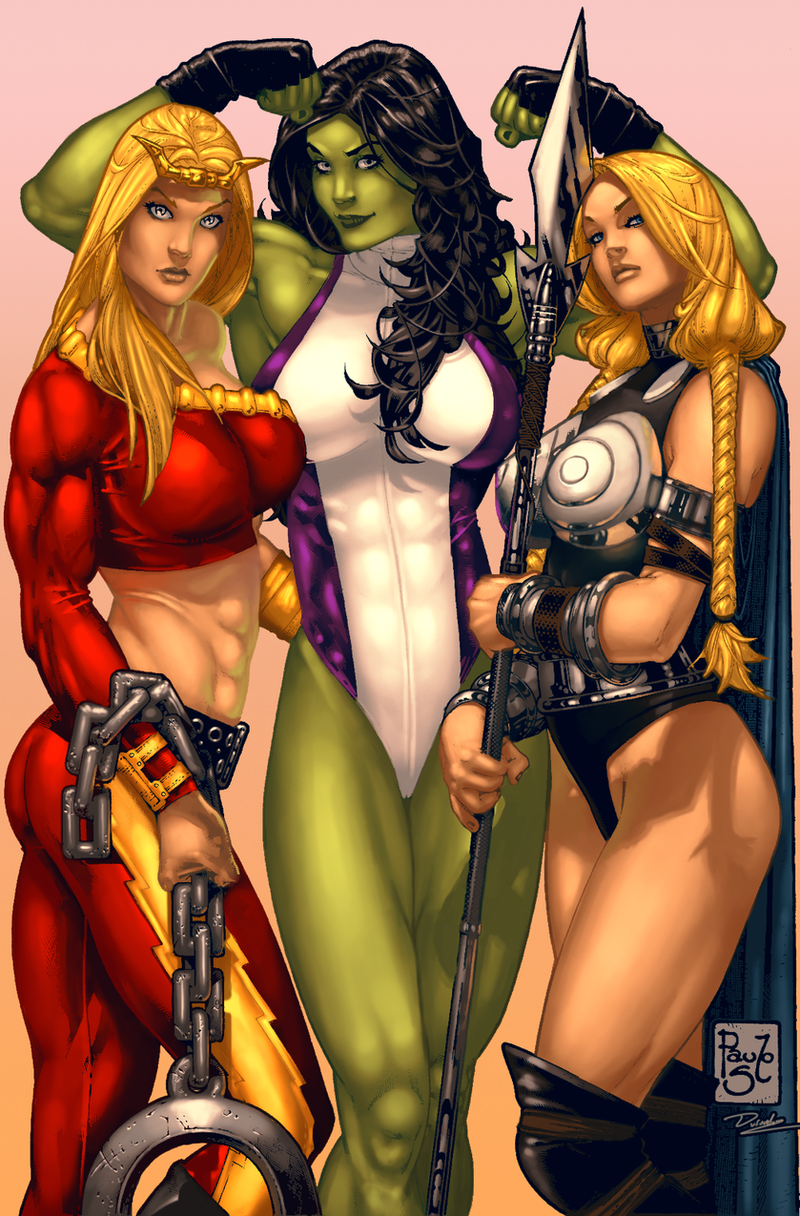 3 More Marvel Girls by Durandus