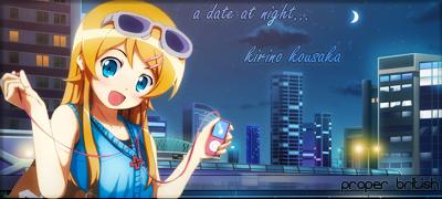 Kirino Kousaka at night by SkyDX