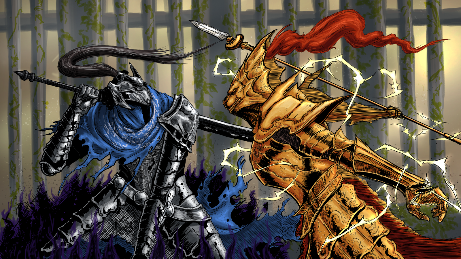 Who would win Artorias or Ornstein> : darksouls