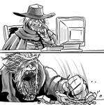 Bloodborne: Father Gascoigne browses the web