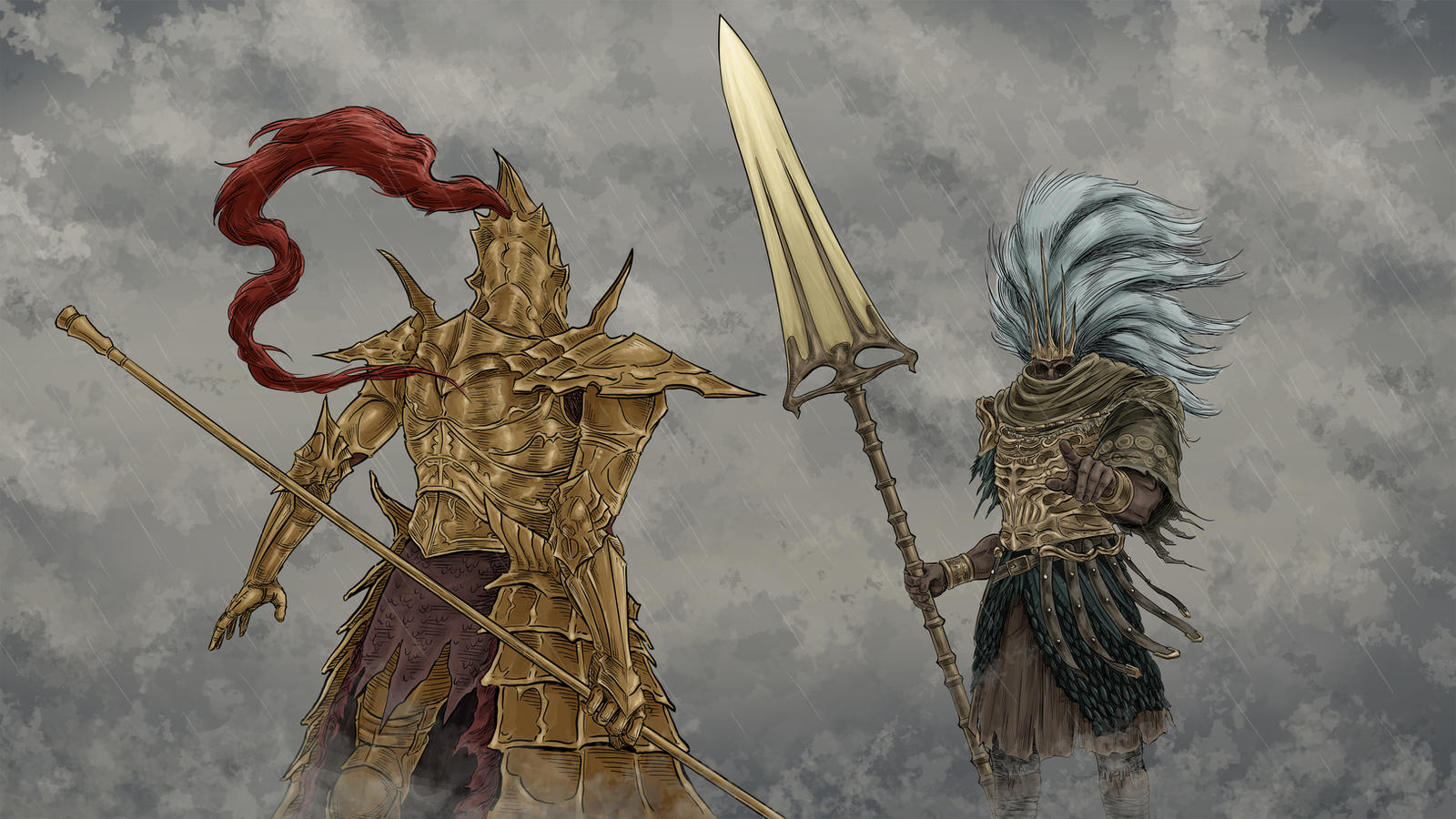 Dark Souls 3 Ornstein And The Nameless King By Menaslg On