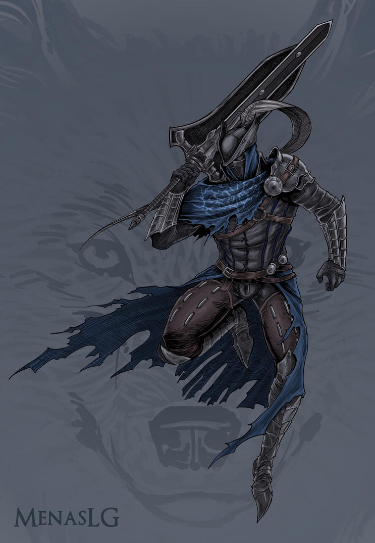 Dark Souls / Bloodborne: Hunter Artorias by MenasLG