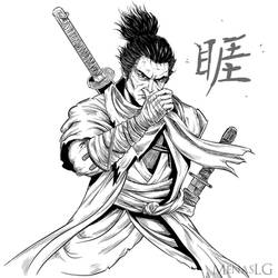 Sekiro: The One-Armed Wolf by MenasLG