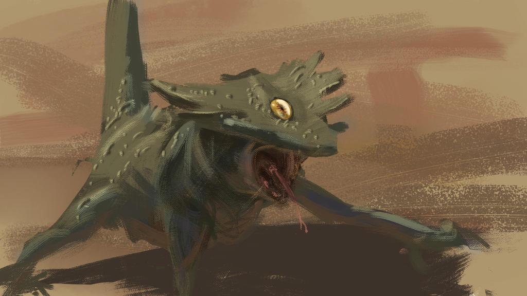 oneeyed lizard by omer88