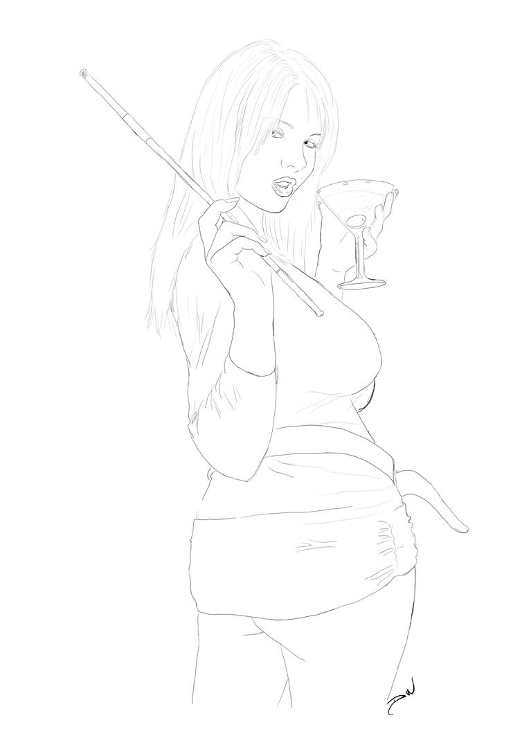 Martini-lineart by venonded