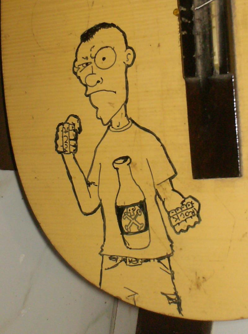 Punk guitar closeup by venonded