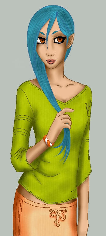 inbluehair by venonded