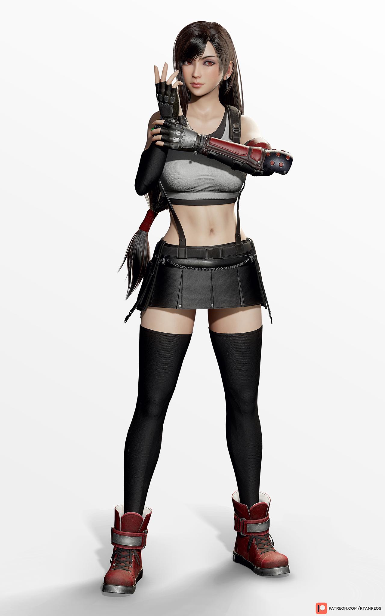 Tifa Lockhart Ff7r Full Body Render By Ryanreos On
