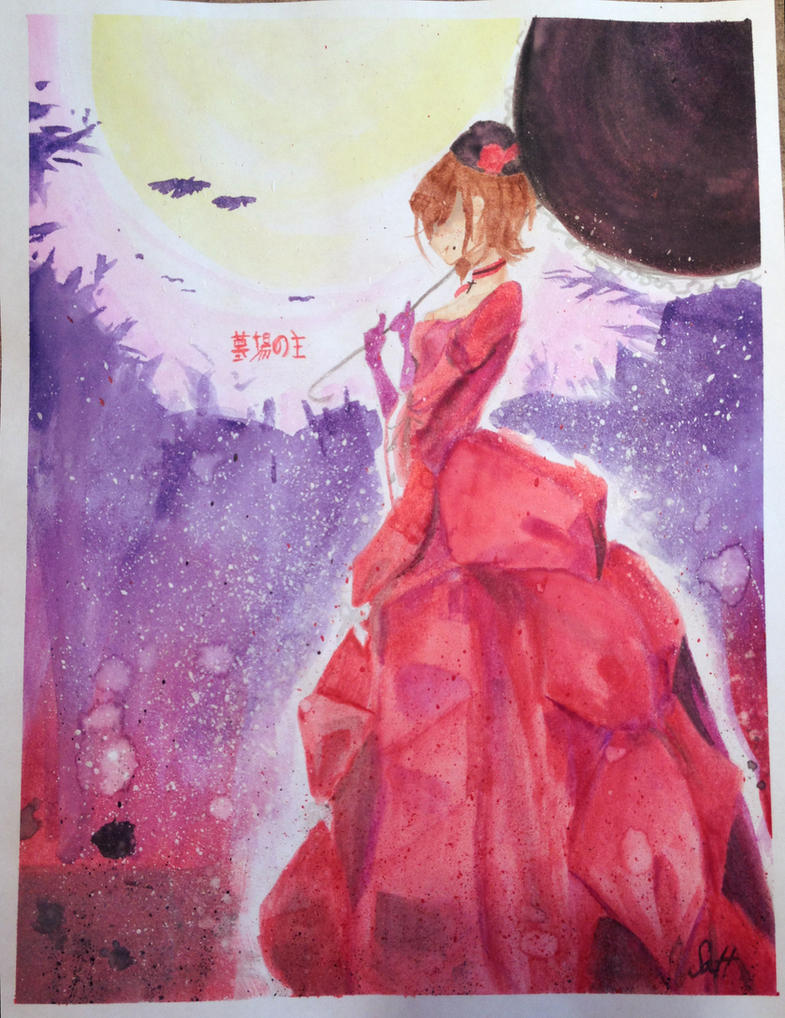 Hakaba no Aruji - watercolors by UglyTree