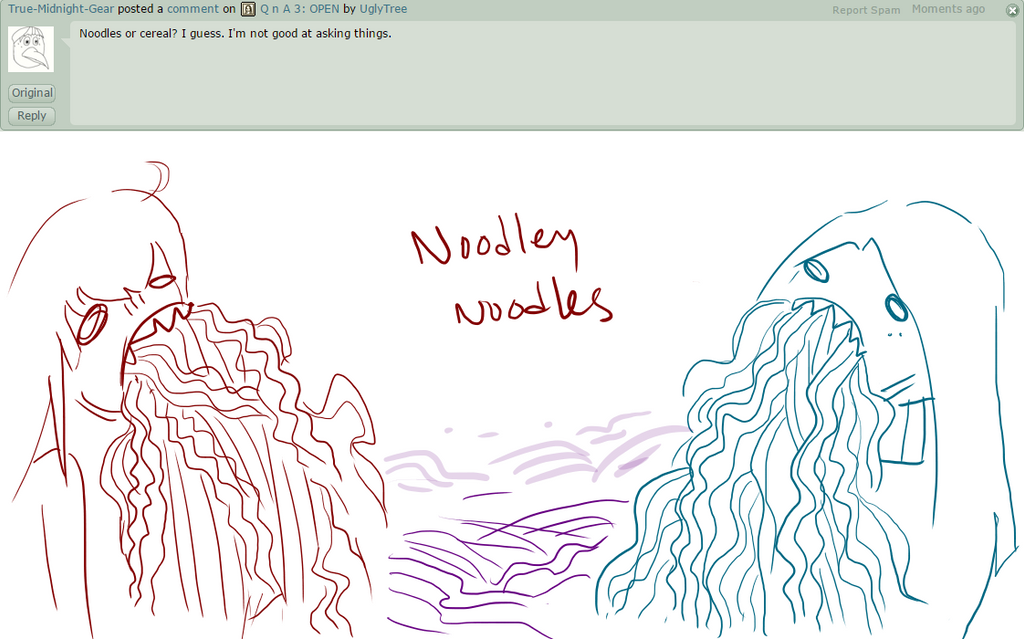 QnA Answer 14: Noodley Noodles by UglyTree