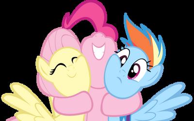 Pinkie Dash Shy Hug by PaleoSteno
