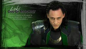 Loki God of Mischief by Elnarseltaair