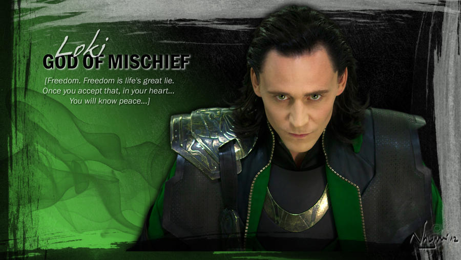 Loki God of Mischief by Nhyms