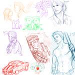 Supernatural RP sketch dump