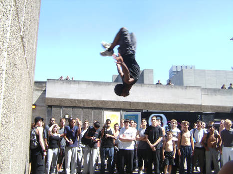 Chima's two step wall flip