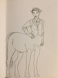 Inktober 2018 Day 2: Centaur by Jaebird88