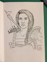 Inktober 2018 Day 10: Kassandra by Jaebird88
