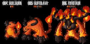 Fakemon: Fire Starter by DrCrafty