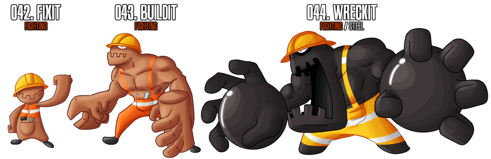 Fakemon: 42 - 44 by MTC-Studios