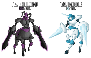 fakemon: 142 - 143 - Legendary Knights duo by DrCrafty