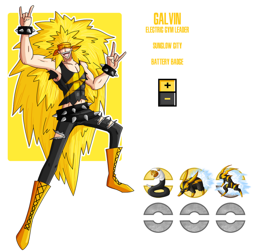 Fakemon: Electric Gym Leader by MTC-Studios