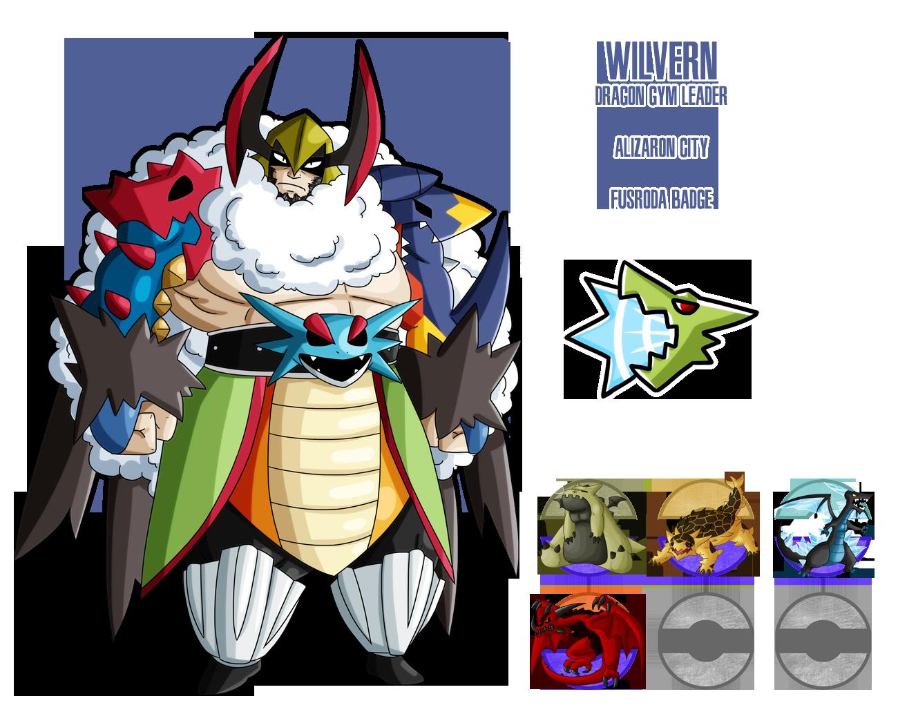 fakemon dragon gym leader by drcrafty on deviantart
