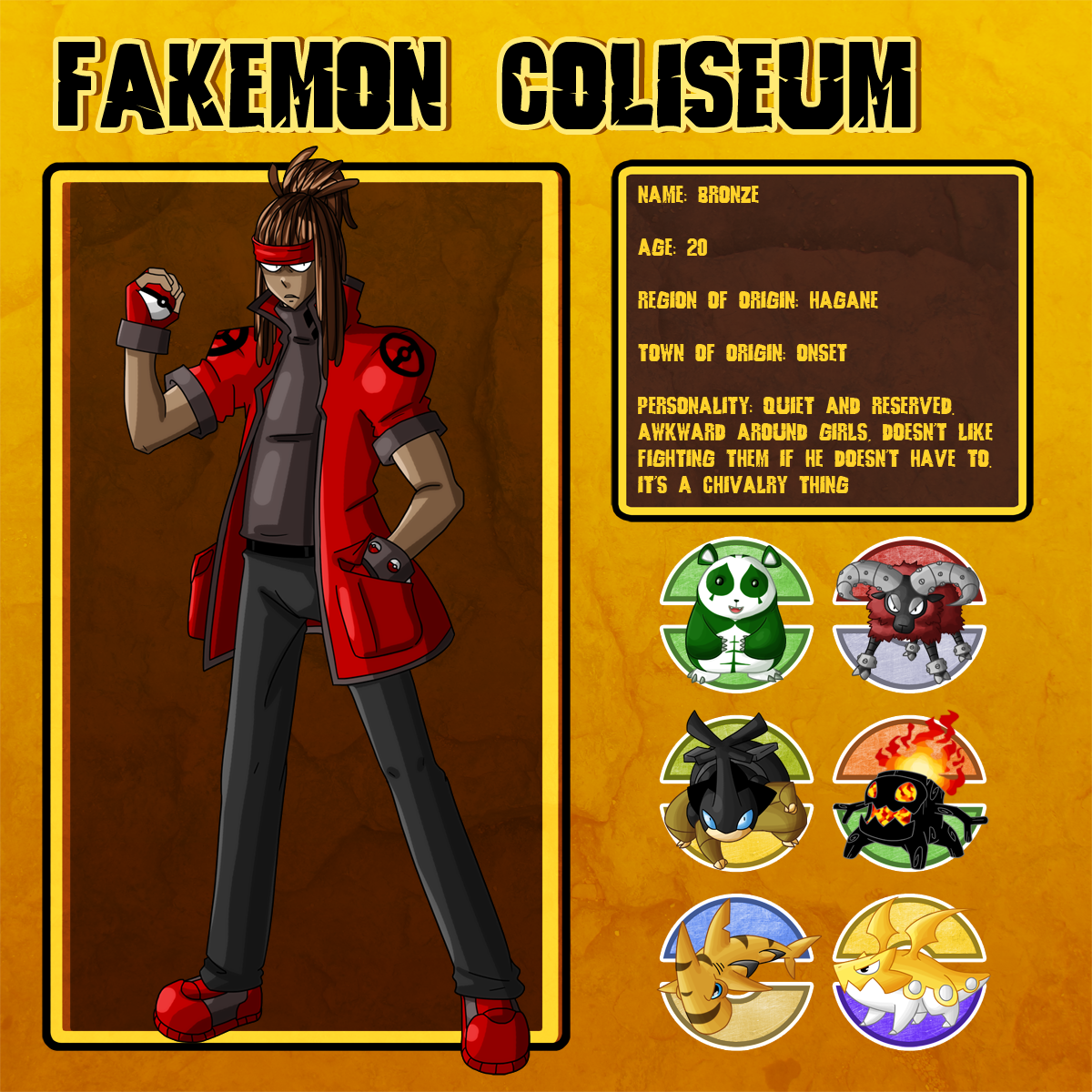 Fakemon Coliseum: Bronze by MTC-Studio