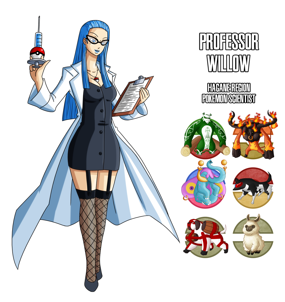 Fakemon: Professor Willow by MTC-Studio