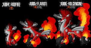 Fakemon: A004 - A006 - Alternate Fire Starter by DrCrafty