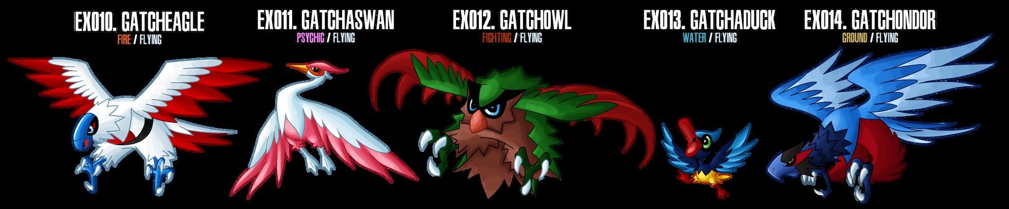 Fakemon: EX010 - EX014 by MTC-Studios