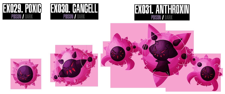 Fakemon : EX029 - EX31 by MTC-Studio
