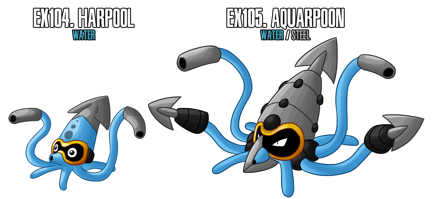 Fakemon: EX104 - EX105 by MTC-Studios