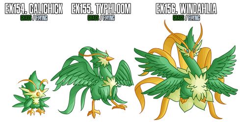 Fakemon: EX154-EX156 Alternate Grass starters 2