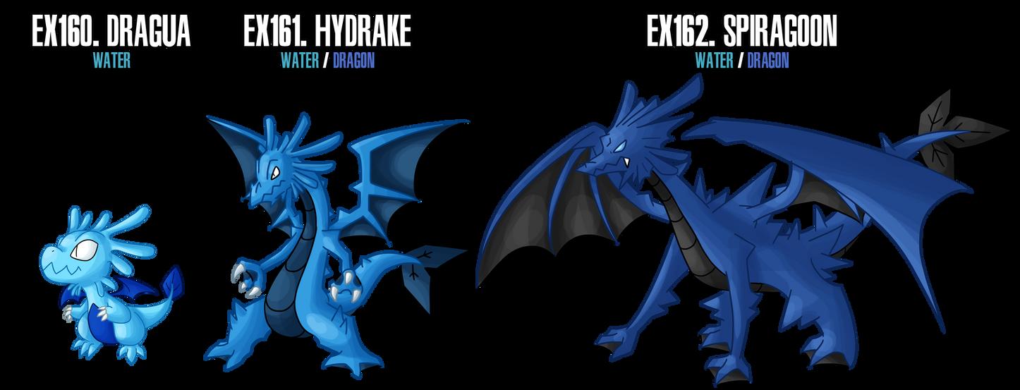 Fakemon: EX160 - EX162 Alternate Water starters 2 by MTC-Studio