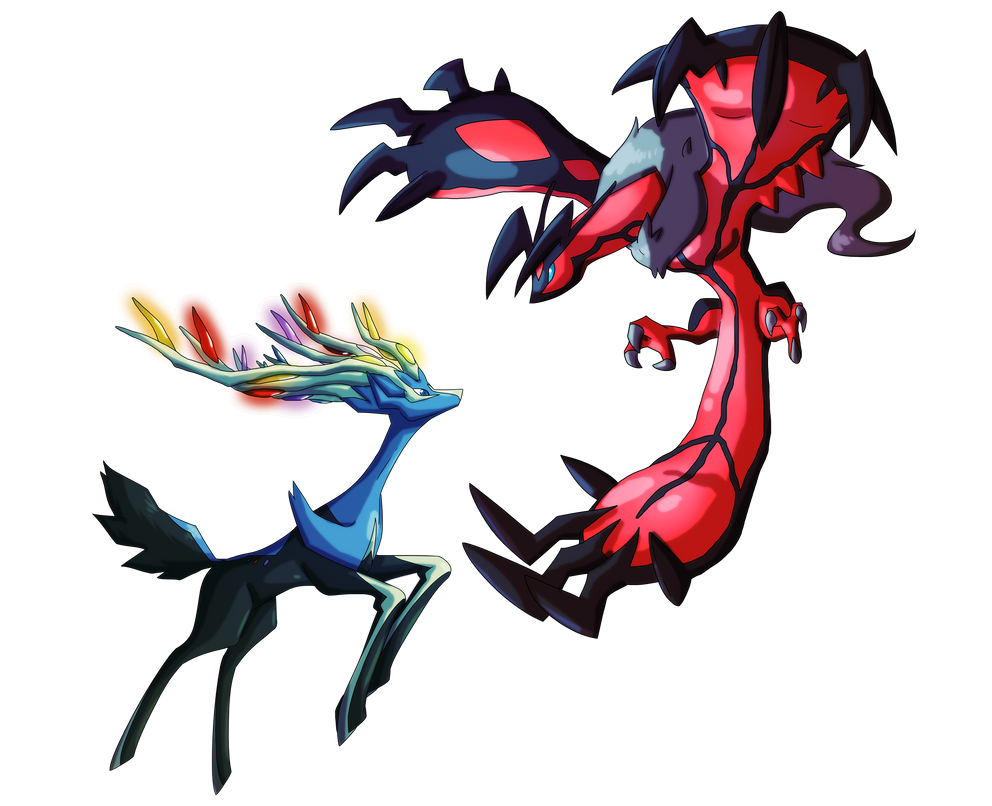 Pokemon X + Y: Yveltal and Xerneas by MTC-Studio