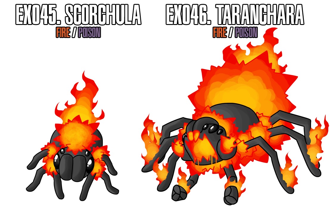 Fakemon: EX045 - EX046 by MTC-Studios