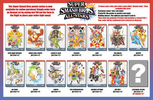 Smash Bros posters: AVAILABLE NOW! ORDER TODAY!