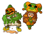 Fiona Frightening commission 18 - Pumpkin Problems