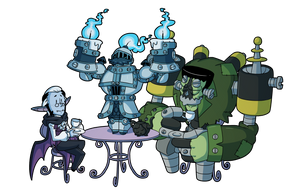 Fiona Frightening commission 19 - Tea Party by DrCrafty