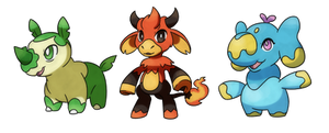 Crafty Concoction: Fakemon starters