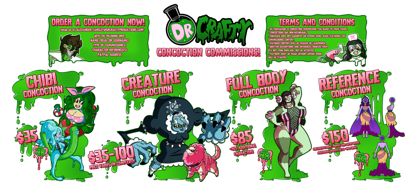 Dr Crafty Concoctions: Price Guide