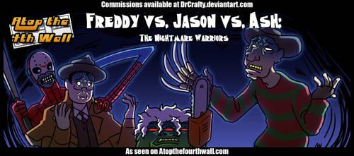 ATFreddy vs. Jason vs. Ash- The Nightmare Warriors by DrCrafty