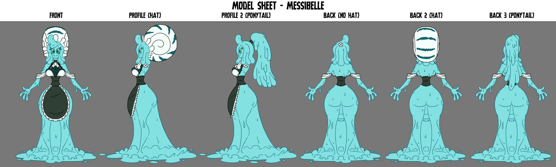 Crafty Concoction: Messibelle Model Sheet by DrCrafty