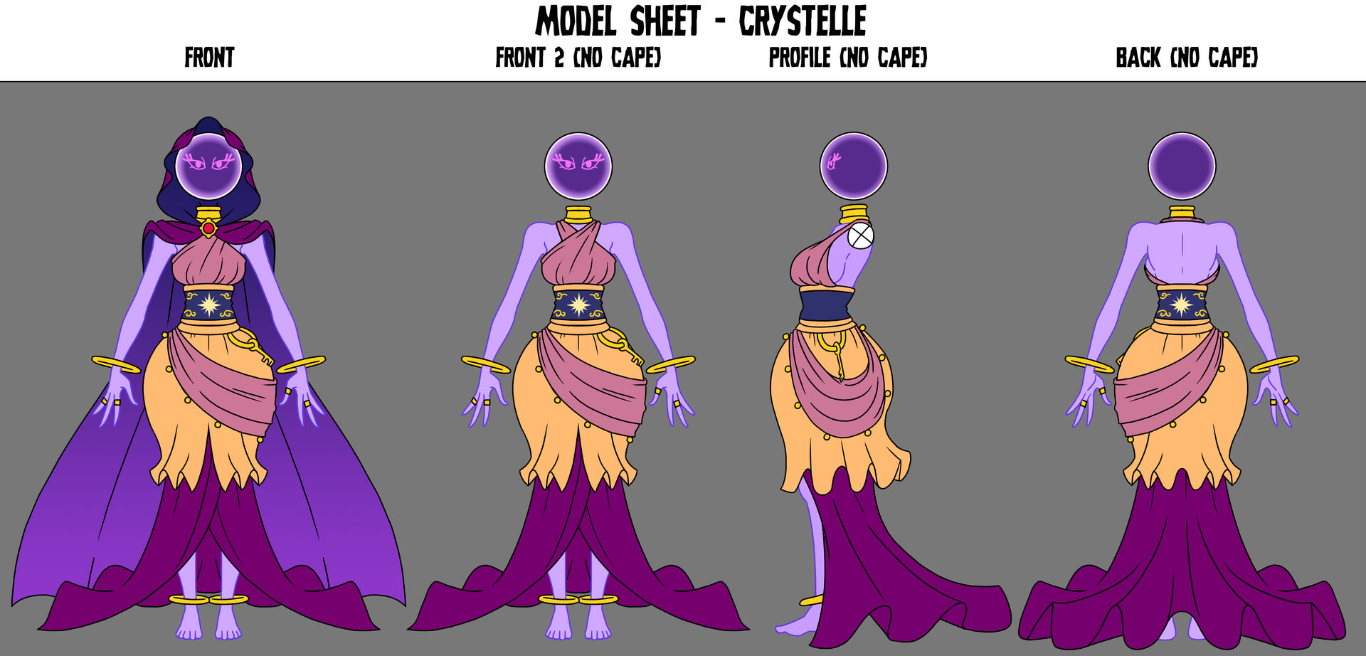 Crafty Concoction: Crystelle Model Sheet by DrCrafty