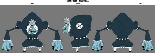 Crafty Concoction: Disgustilda Model Sheet by DrCrafty