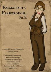 Portrait of Dr. Emmalotta Farborough by wwwwolf
