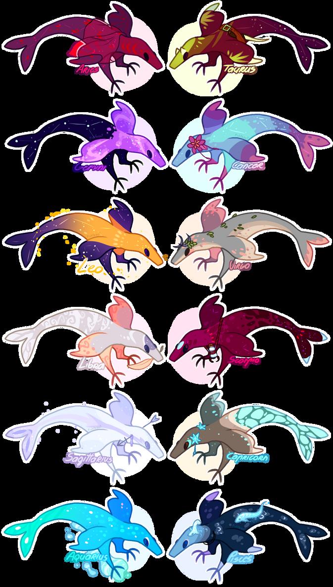 Zodiac Fishraptor Party! [CLOSED]