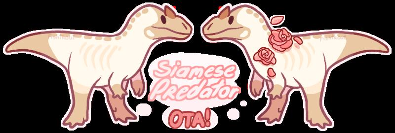 Siamese Allosaurus OTA [CLOSED] by Fishtrout